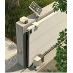 NICE solar kit fitted to sliding automatic gate - Nice solar gate automation